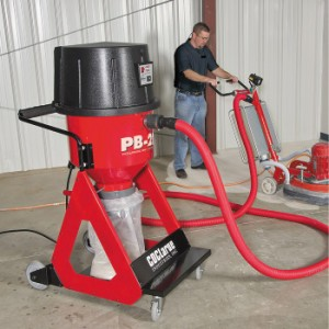 Concrete industrial vacuums designed to never backup for Best vacuum for cement floors